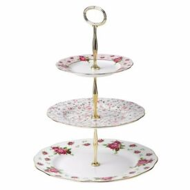 brand new royal albert cake stand - with box