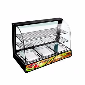 Hot Food Chicken Warmer Display Cabinet Showcase INBOX with Water tray