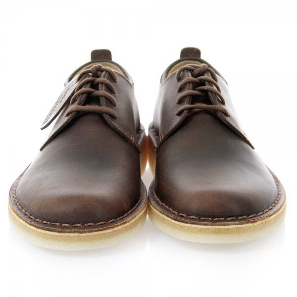 Clarks Originals Men ** DESERT JINK ** Brown Beeswax Lea Shoe ** UK 8,9,10,11 G 1