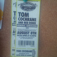 Two Tickets to Tom Cochrane/Red Rider with Kim Mitchell, Aug 8