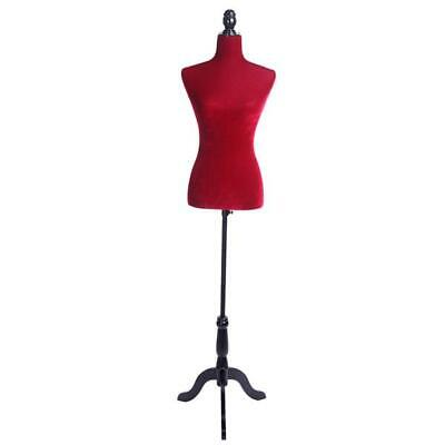 Female Mannequin Dress Form Torso Dressmaker Stand Display Red Us