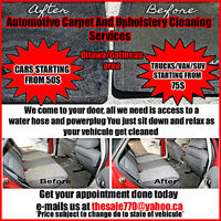 Automotive carpet and upholstery cleaning/car detailer