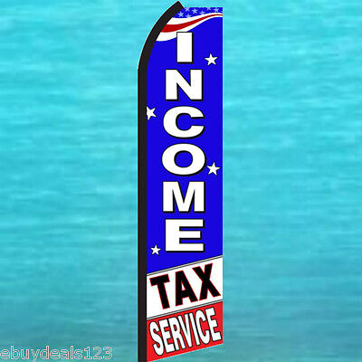 Income Tax Service Flutter Flag Tall Advertising Sign Feather Swooper Banner