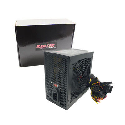 Kentek 600w Watt ATX Computer Power Supply 120mm FAN SATA