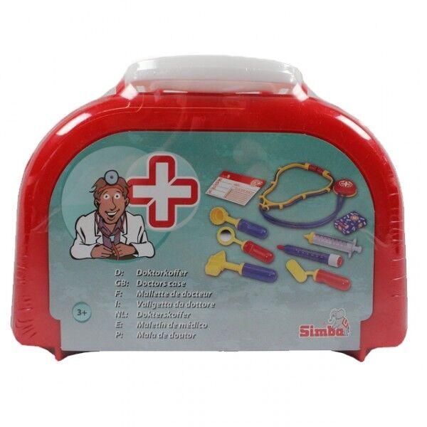 Simba Arztkoffer 10-teilig Doktorkoffer Notarztkoffer Koffer Doktortasche Neu