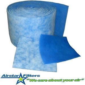 Blue Bonded Media Roll for Air Filter or Aquarium 12 sq.ft. / 25
