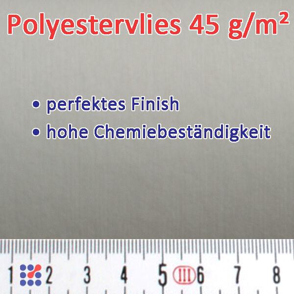 GLASMATTE, GLASVLIES, GLASFASERMATTE F. POLYESTERHARZ  EPOXIDHARZ POLYESTERVLIES Polyestervlies 45 g/m²