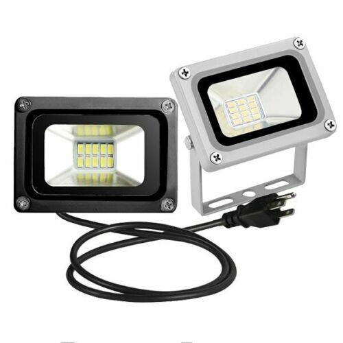 LED Flood Light 10W Outdoor Spotlight Landscape Lamp w/ US P