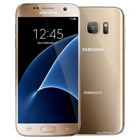 Samsung Galaxy S7, Gold, 32GB, UNLOCKED to Any Network, G930FD, 12mp Dual Pixel Camera, Maps/SatNav
