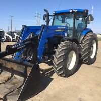 New holland t6.175 tractor with 845tl loader