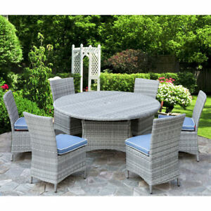 "Tropea 7-Piece Patio 56"" Round Table Dining Set (NEW)$950"
