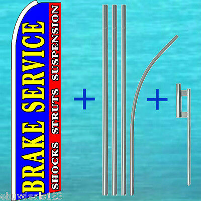 Brake Service Shocks Struts Flutter Feather Flag Pole Kit Swooper Banner Sign