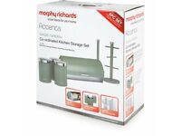 6 Piece Kitchen Set-Morphy Richards Accents-Sage Green-Brand New In Box