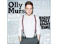 OLLY MURS - BLOCK 3 ROW N - O2 ARENA - FRI 31/03 - £75!