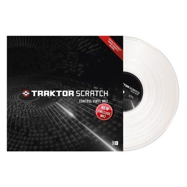 New Native Instruments Traktor Scratch Control Timecode Vinyl MK2 White SINGLE