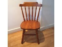 Solid pine spindle chair
