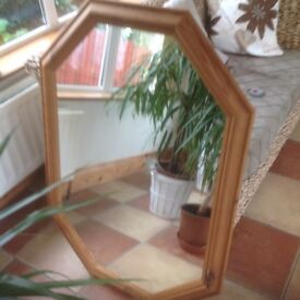 Solid pine framed large mirror