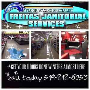 Waxing floors & grout cleaning ceramic wash carpet cleaning Cambridge Kitchener Area image 1