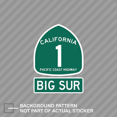 PCH 1 Big Sur Sign Sticker Decal Vinyl pacific coast highway sign pch hwy sign Big Sur Coast Highway