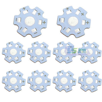 50 Pcs Star 20mm High Power 1w 3w Led Beads Heat Sink Aluminum Base Plate New