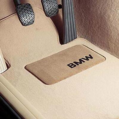 BMW OEM Beige Carpeted Floor Mats w/Pad 2006-2012 E90 3 Series Sedan 82112293524