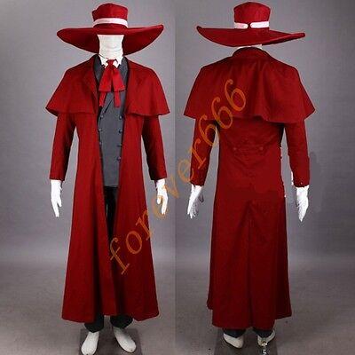 Cosplay Hellsing Alucard Costume Kostüm Set Herushingu Anzug DAmen Herren hot