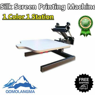 Us 1 Color 1 Station Silk Screen Printing Machine 1-1 Press Diy T-shirt Printing