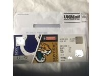 NFL Wembley Colts vs Jags less than face value ticket