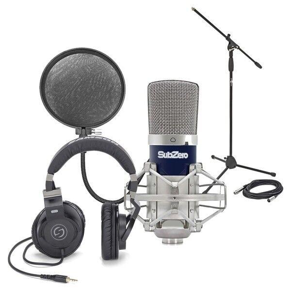 SubZero SZC-400 Condenser Mic Studio Pack & Samson Z35 Headphones