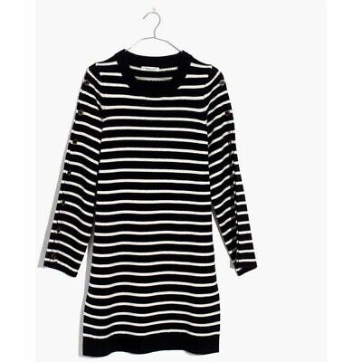 Madewell Button Sleeve Sweater Dress size L
