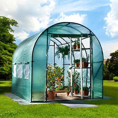 6m² Gewächshaus mit Stahlfundament Garten Treibhaus Tomatenhaus Pflanzenhaus °