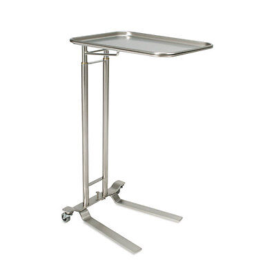 Foot-operated Stainless Steel Mayo Stand With Extra-large Tray Tray Size 25...