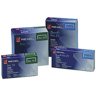 REXEL NO.10 STAPLES PACK 5000 *GREAT PRICE*