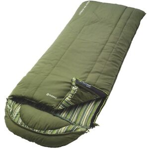 OUTWELL GREEN CAMPER LUX SLEEPING BAG 3-4 SEASON CAMPING TRAVEL NEW