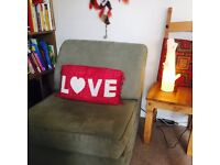John Lewis Foldable single bed chair. MINT CON!