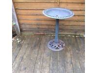 Cast iron bird table / bird bath £10