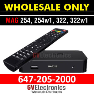 IPTV TV BOX ANDROID  MAG 254,254W1,322,322W1 WHOLESALE ONLY