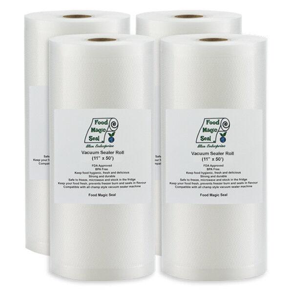 Купить Food Magic Seal R1150 - 4-11x50 Rolls Food Magic Seal 4 Mil for Vacuum Sealer Storage Bag Great $$ Saver