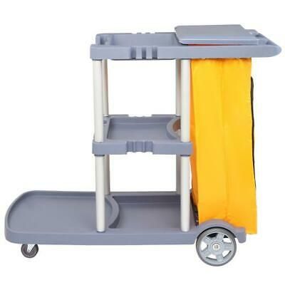 Oshion Janitorial Cleaning Cart Caddy Commercial W Cover Shelves And Vinyl Bag
