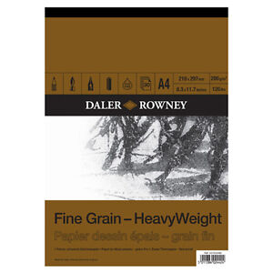 A4-DALER-ROWNEY-FINE-GRAIN-HEAVYWEIGHT-CARTRIDGE-PAD-200gsm-ARTIST-SKETCH-PAPER