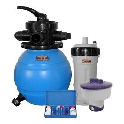 Mauk Sandfilteranlage 90W 12L + Chlorverteiler und Test Kit (Handelsretoure)