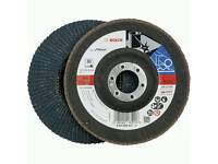 10 X Bosch 60 Grit Flap Discs 115mm Angle Grinder Abrasive Wheels Metelworking