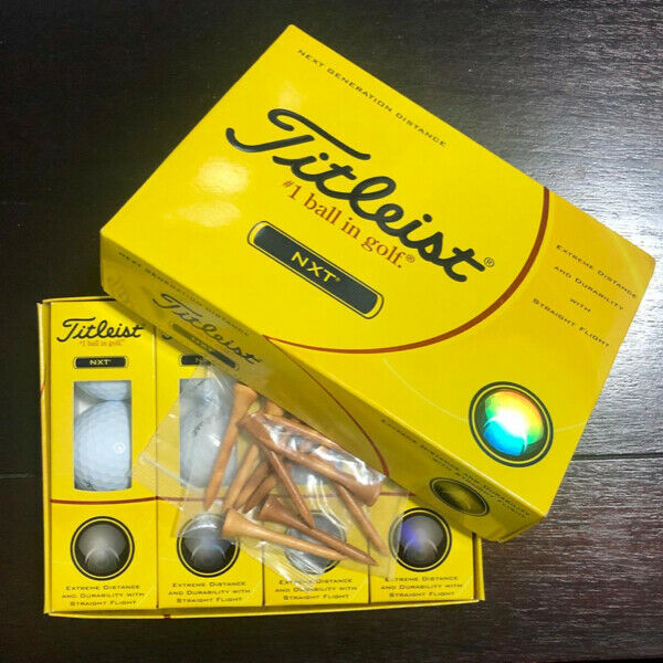 NEW Titleist Golf Balls with free wooden tees