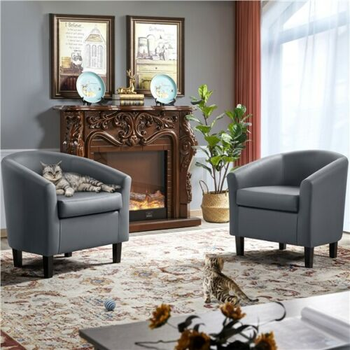 Accent Arm Chair Barrel Tub Chair Contemporary Style