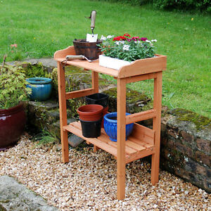 Greenfingers FSC Wooden Fir Potting Table Garden Bench Greenhouse Staging Shelve