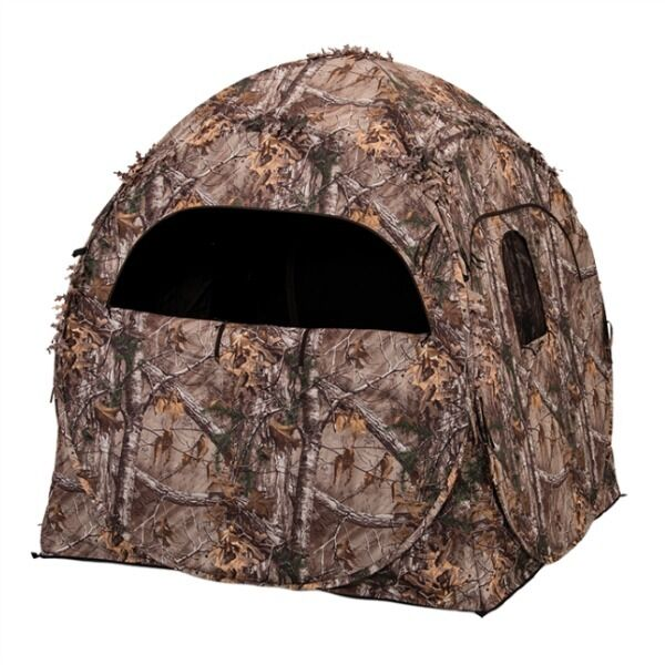 Ameristep Doghouse Spring Steel Ground Blind RealTree Xtra Camo