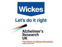 Raising money for Alzheimer's Research UK