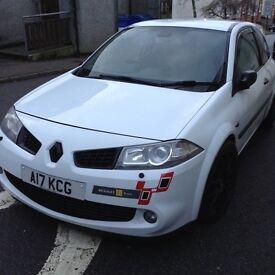 White Renault Megane Sport Limited Ed.