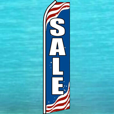 Sale Patriotic Flutter Flag Tall Curved Advertising Sign Feather Swooper Banner