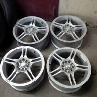 Set of FOUR 16x7, ET/Offset 42, 5x100, 5x114.3 bolt Alloy wheels